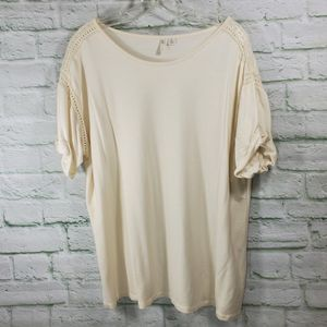 Cato Lace Detail Tee Sz. XL